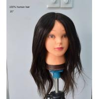 Wholesale 50%, 85%, 100% Human Hair Female Mannequin Head for Salon, School from china suppliers