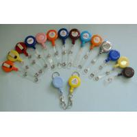 Wholesale Different Color Plastic Badge Holder , Lanyard Pouch Holder With Metal Clip from china suppliers