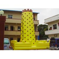 Wholesale Yellow Tall Inflatable Sports Games / Inflatable Climbing Wall For Fun from china suppliers