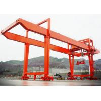 RMG Rail Mounted Electric Gantry Crane 5-200t Electric Trolley Double Girder for sale