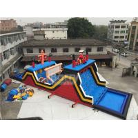 Wholesale Great Race Pirate Ship Inflatable Outdoor Obsatcle Course for Adults / Kids from china suppliers