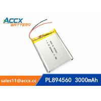 Quality 894560 pl894560  3.7V 3000mAh battery supplier rechargeable battery for miner lamp for sale