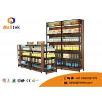 Wholesale Supermarket Flat Back Wood Display Rack Elegant Galvanized Chrome Plated from china suppliers