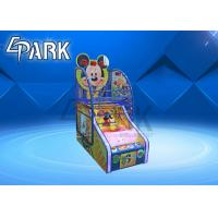 Mickey Kids Mini Street Basketball Game Coin Operated Machine Easy To Move for sale