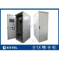 China Heat Insulated Single Wall Steel Outdoor Telecom Cabinet With DC Air Conditioner, Power distribution Unit for sale