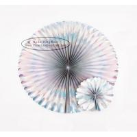 China Special Laser Paper Honeycomb Fan For Decoration Party Events Festival for sale