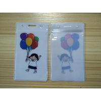 Wholesale Fashional Waterproof Name Card Pvc Badge Holder Pouch With Landyard from china suppliers
