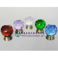 Buy cheap Coloured Crystal Cut Knob With Brass Base, Antique Brass (012-38 -TDQGLS) from wholesalers