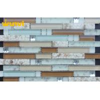 Wholesale Natural Strip Shell Mosaic Tile , Brown Iridescent Glass Mosaic Tile For Backsplash from china suppliers