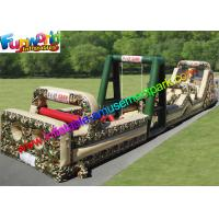 Wholesale PVC Tarpaulin Inflatables Obstacle Course Military Boot Camp Challenge from china suppliers