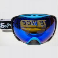 Wholesale OEM Adult Blue Spherical Snowboard Goggles With Interchangeable Lenses from china suppliers