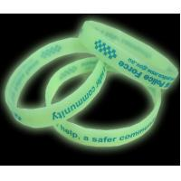 Glow in the dark silicone bracelet for sale