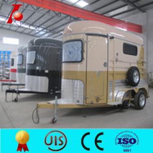 China Aluminium box trailer for horse, cheap horse box trailer for sale on sale