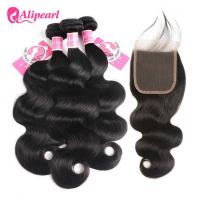 Wholesale 8A Body Wave Human Hair Weave Bundles With Closure Brazilian Virgin Remy Hair from china suppliers