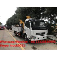 China Factory sale good price dongfeng brand  156hp diesel Euro 5 4tons folded crane boom mounted on truck, folded truck crane for sale