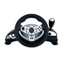 China Dual Vibration Wired Large PC Game Racing Wheel With Adjustable Sensitivity on sale