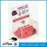 Wholesale Acrylic Comment/Donation /Collection/Ballot Box with Brochure Pocket and Lock from china suppliers