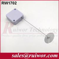Quality Small Size ABS Plastic Security Pull Box Recoiler With Adhesive ABS Plate End for sale