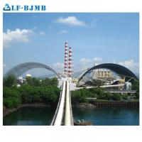China Prefabricated Large Span Steel Space Frame Structure Barrel Bulk Storage Roof Coal Storage Shed on sale