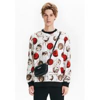 China Men's New Latest Design Fleece Sweatshirt with All over Printed pullover for sale
