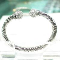 Wholesale (B-70)Women Fashion Designer Cable Bracelet with Pave High Quality Cubic Zircon Top from china suppliers