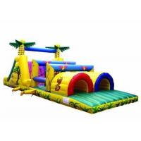 Wholesale Colorful Inflatable Jungle Obstacle Course / Toddler Obstacle Course For Kids from china suppliers