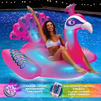 Wholesale Peacock LED Light Up Inflatable Pool Floats With Remote Control For Ages 15+ from china suppliers