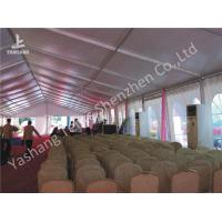 Wholesale Clear Span Large Outdoor Tent White PVC Fabric Door Transparent PVC Windows from china suppliers