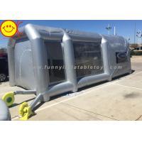 Wholesale Grey Large Inflatable Tent Drive - In Workstation Inflatable Spray Paint Booth With Filter from china suppliers