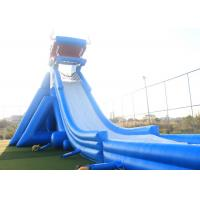 Wholesale Blue Giant Inflatable Water Slide For Adult 3 Layers Pvc Tarpaulin Material from china suppliers