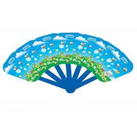 Wholesale Customized PVC Plastic Products , Folding Hand Fans Full Color Printing from china suppliers