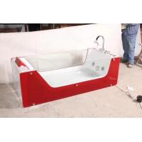 Buy cheap Red rectangle Air Bubble Bathtubs ABS Acrylic Jaccuzi for bathroom 87 x 182 X 72 from Wholesalers