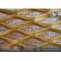 Wholesale 75X155mm Diamond Hole Golden Aluminum Expanded Metal Sheet | China Supplier from china suppliers