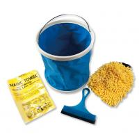 Wholesale 5 Pieces Microfiber Car Cleaning Tools with Foldable Bucket / Cheese Cloth from china suppliers