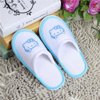Buy cheap Soft Feeling Hotel Room Slippers Terry Cloth Disposable Bathroom Slippers from wholesalers