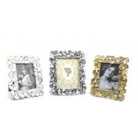 China Handcrafted Rectangle Wall Picture Frames For Living Room Gingko Leaves Edges on sale