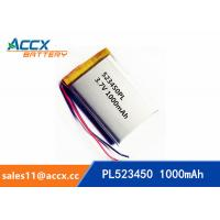 Wholesale 523450 pl523450 3.7v 1000mah lithium polymer rechargeable battery for mobile phone, printer from china suppliers