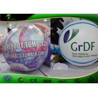 Purple Helium Flying Inflatable Advertising Balloons With Logo Printing