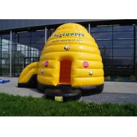 Quality Multifunction Inflatable Bouncer , Yellow Inflatable Bouncers For Adults With Small Slide for sale