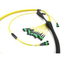 Wholesale MPO To MPO Trunk Cable , Telecom Single Mode Fiber Optic Cable High Bandwidth 12 - 288 Fibers from china suppliers
