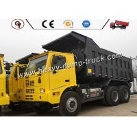 China LHD Yellow Color 70T 50T Ten Wheeler Dump Truck Heavy Duty Use In Mining for sale