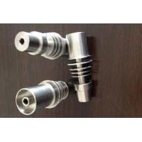 Wholesale -New Gr2 D-Nail V1.2 Titanium Domeless 20mm E-nail DNail Male from china suppliers