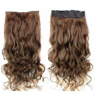 Wholesale 18 Inch Long Virgin Clip In Hair Extensions / Smooth Virgin Remy Hair Clip Ins from china suppliers
