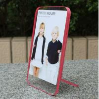 Wholesale clear acrylic pink side paperweight photo frame from china suppliers