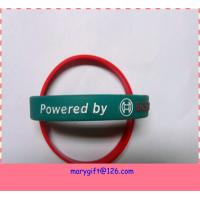 custom adjustable silicone wristband with embossed logo for sale