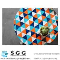 China High quality colored painted glass tops on sale