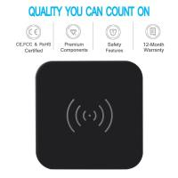 Wholesale 7.5w Universal Usb Power Adapter Qi Wireless Charge Pad With Anti Slip Rubber from china suppliers