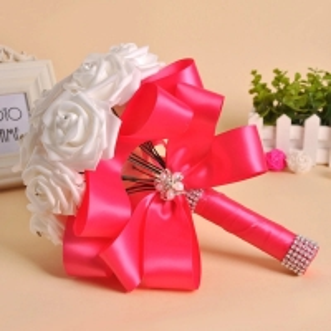 China Wholesale Bride Hand Flowers bridal bouquet foam rose artificial flower bouquet for wedding on sale
