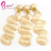 100% Virgin Remy Blonde Ombre Hair Extensions No Shedding 12 Inch - 30 Inch for sale