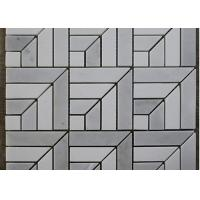 Square Guangxi White Marble Mosaic Tile Backsplash / Stone Mosaic Wall Tiles Polished for sale